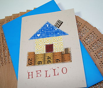 Patchwork House Card from Claudine