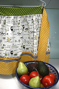Audrey & Maude Apron with Fruit