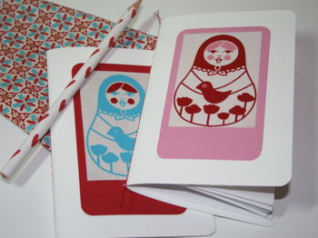 Sewn Notebooks Kristen Doran Matryoshka Fabric