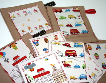 Felt Pouches & Gift Tags with Japanese Fabric