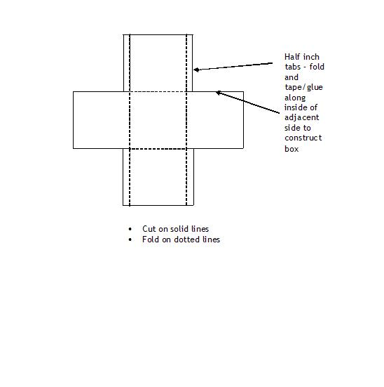 Fold your own box template