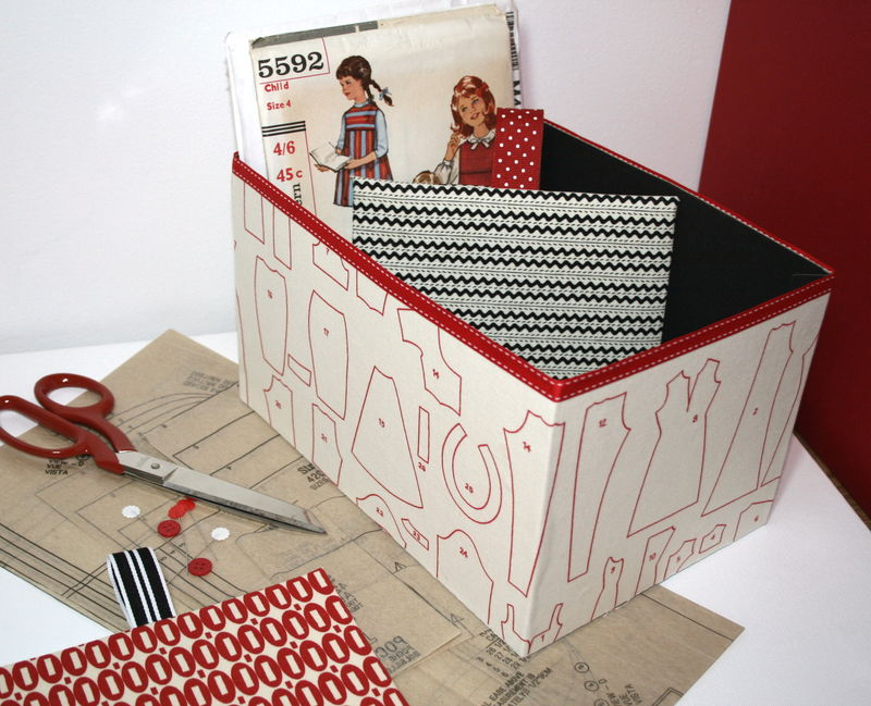 Fabric covered box for patterns