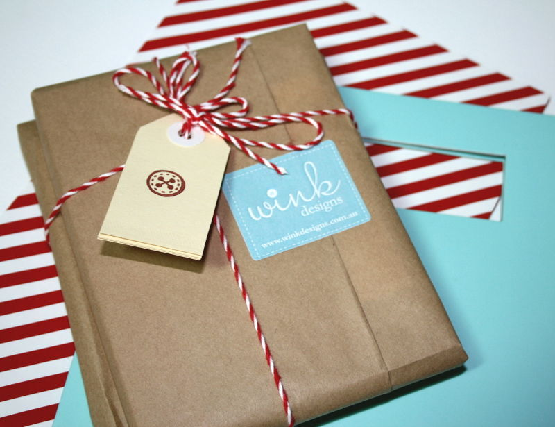 Aqua & red packaging