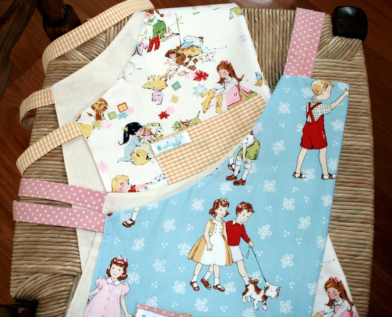 Lets Play House & Sage Glen Playday Aprons
