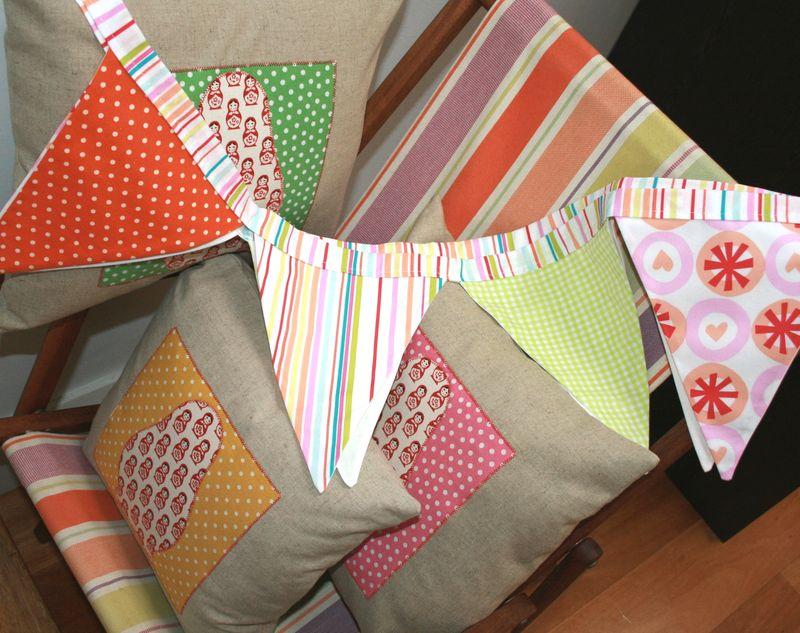 Matryoshka Cushions & Prints Charming Bunting