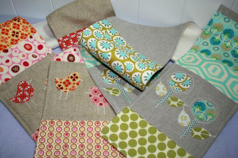 Linen Patchwork Applique Scarves