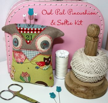 Owl Pal Pincushion & Softie Kit