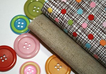 Colourful fabric & buttons