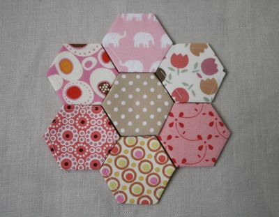 Hexagons pink & brown