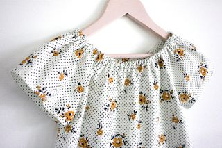 Peasant top orange