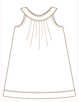Finished Dress Drawing