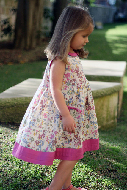 Madeline Dress in ie fabric Fl D 3
