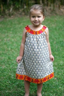 Little Ellie Dress in Indian fabric FL D 2
