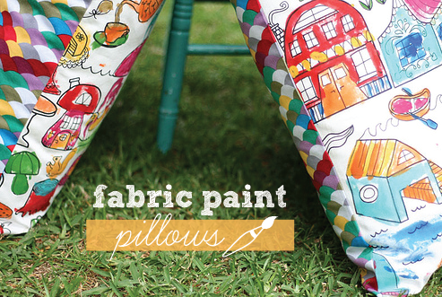 Fabric paint pillows