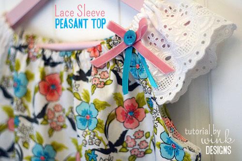 Lace Sleeve Peasant Top Tutorial